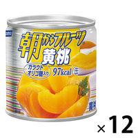 はごろもフーズ 朝からフルーツ黄桃 190g 12缶