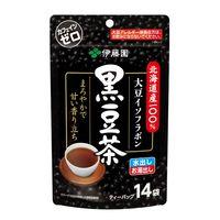 【水出し可】伊藤園 伝承の健康茶 北海道産100%黒豆茶ティーバッグ 1袋(14バッグ入)