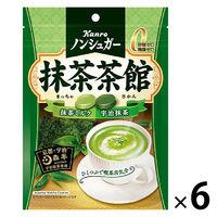 カンロ ノンシュガー抹茶茶館 72g 6袋 キャンディ 飴