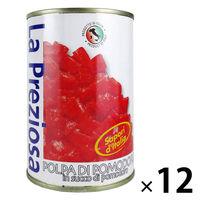 カルディコーヒーファーム ラ・プレッツィオーザ ダイストマト缶 400g 1セット(12缶) 素材缶詰