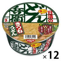 日清食品 日清のどん兵衛 きつねうどんミニ(西日本版) 24755 3 12個