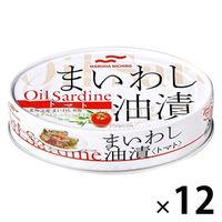 マルハニチロ まいわし油漬<トマト> エキストラバージンオイル使用 缶詰 100g 12個