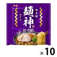 明星食品 麺神 神太麺×旨 醤油 10個