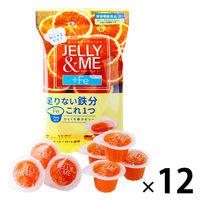 北辰フーズ JELLY&ME 鉄分ブラッドオレンジゼリー JM-B 12袋 ゼリー 洋菓子 鉄分