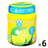 【トクホ・特保】モンデリーズ リカルデント ライムミントガム ボトル 6個 特定保健用食品