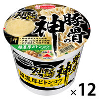 カップ麺 スーパーカップ 1.5倍 豚骨の神 超濃厚どトンコツラーメン 129g 1セット(12個) エースコック