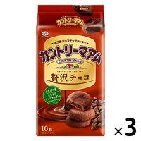 不二家 カントリーマアム(贅沢チョコ) 3袋 クッキー ビスケット お菓子 おやつ