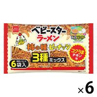 おやつカンパニー ベビースターラーメン コクうまチキン柿の種3種ミックス6P 1セット(6袋入)