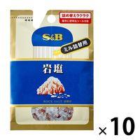 エスビー食品 S&B 袋入り岩塩(ミル詰め替え用) 10個