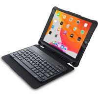 iOS対応 Bluetoothキーボード付タブレットケース ブラック iPad 10.2inch 10.5inch ケース(直送品)