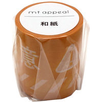 mt appeal和紙テープ 注意喚起 注意 幅50mm×7m MT01K1872 1巻 カモ井加工紙(直送品)