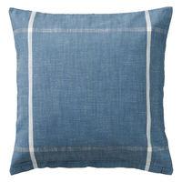 無印良品 インド綿スラブクッションカバー/ブルーライン 43×43cm用 良品計画