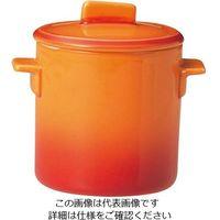 ミヤザキ食器 ソレイユ 蓋付カップ SS SO4808 オレンジ 1個 62-6678-10(直送品)