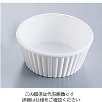 遠藤商事 ジェスナー ラメキンリブ付(SAN) 0364A (ホワイト) 1個 62-6734-08(直送品)