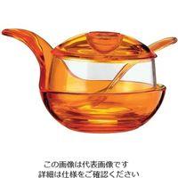 guzzini パルメザンチーズジャー オレンジ 2347.0045 1個 62-6738-81(直送品)
