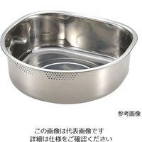 アズワン 18-8D型穴明洗桶 ゴム付 30cm(6.1L) 1個 62-8178-94(直送品)