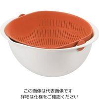 パール金属 ミラくるザル・ボウル 大 オレンジ C-5723 1個 63-2747-52(直送品)