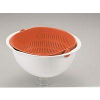 パール金属 ミラくるザル・ボウル 小 オレンジ C-5725 1個 63-2747-54(直送品)
