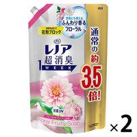 【セール】 レノア 超消臭1WEEK フローラルフルーティーソープ 詰め替え 超特大 1390ml 1セット(2個入) 柔軟剤