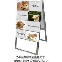 常磐精工(tokisei) カードケーススタンド看板 A4横 16両面ハイ CCSK-A4Y16RH 1台 63-7244-28(直送品)