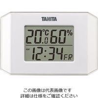 タニタ(TANITA) デジタル温湿度計 ホワイト TT-574-WH 1個 63-7292-28(直送品)