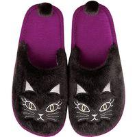 センコー 小悪魔CAT レイッパ スリッパ 約24cm ブラック SDS150399 1足(直送品)