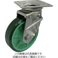 ヨドノ 樹脂製ウレタンゴム車輪ステンレス製自在車ストッパー付 ベアリング無 100 PNUAJAB100 1個 132-1903(直送品)