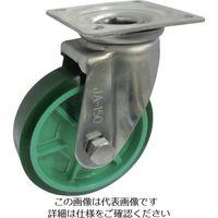 ヨドノ 樹脂製ウレタンゴム車輪ステンレス製自在車付 ベアリング無 100 PNUAJA100 1個 132-1918(直送品)
