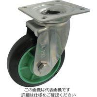 ヨドノ 樹脂製ゴム車輪ステンレス製自在車付 100 PNAJA100 1個 131-7212(直送品)