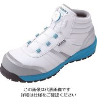 IGNIO ダイヤル式セーフティシューズ A種 耐滑ミッドカットホワイト23.0 IGS1057TGF-WH23.0 126-6458(直送品)