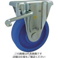 ヨドノ MCナイロン車輪(ベアリング入)プレス製固定金具ストッパー付 MCVB-KB100 1個 133-7608(直送品)