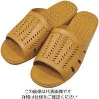 ニッポンスリッパ 成型サンダル紳士 ライトブラウン L 400876 1セット(20足) 868-7651(直送品)