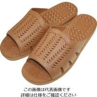 ニッポンスリッパ 成型サンダル紳士 ブラウン L 400879 1セット(20足) 868-7653(直送品)