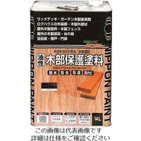 ニッペホームプロダクツ ニッぺ 油性木部保護塗料 14L ブラック HY009-14 1缶 158-4852(直送品)