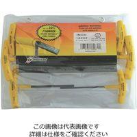 ボンダス 全長152mm 六角T-ハンドル インチ セット8本組(3/32-1/4) HTX80-6 810-8481(直送品)