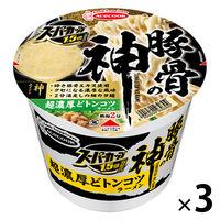 カップ麺 スーパーカップ 1.5倍 豚骨の神 超濃厚どトンコツラーメン 129g 1セット(3個) エースコック
