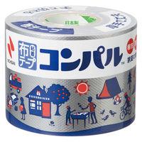 【ガムテープ】 布粘着テープ コンパル 0.3mm厚 50mm×10m 銀 ニチバン 3巻