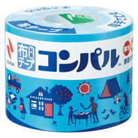 【ガムテープ】 布粘着テープ コンパル 0.3mm厚 50mm×10m ライトブルー ニチバン 3巻