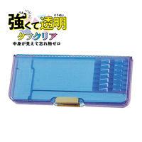 クツワ 筆箱 ペンケース タフクリア ライトブルー CH204LB 1個(直送品)