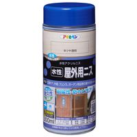 アサヒペン 水性屋外用ニス 300ML 半ツヤ透明 AP9018907 1本(直送品)