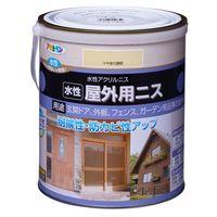 アサヒペン 水性屋外用ニス 1.6L ツヤあり透明 AP9018910 1缶(直送品)