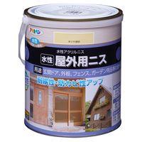 アサヒペン 水性屋外用ニス 1.6L 半ツヤ透明 AP9018911 1缶(直送品)