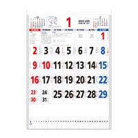 【2022年版】壁掛カレンダー 星座入りメモ付文字月表(3色) 大判 NK8181 1セット(2冊) 新日本カレンダー(直送品)