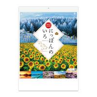 【2022年版】壁掛カレンダー にっぽんのいろ(スマートアートシリーズ) NK8463 1冊 新日本カレンダー(直送品)
