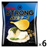 KOIKEYA STRONG バジルチーズ 6袋 湖池屋 ポテトチップス スナック菓子