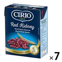 素材缶詰 レッドキドニー 赤いんげん豆 水煮 380g 1セット(7個) チリオ