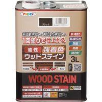 アサヒペン 油性強着色ウッドステイン 3L ブラック 9018822 1缶(直送品)