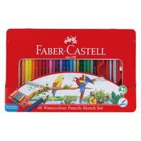 シヤチハタ 水彩色鉛筆 ファーバーカステル 48色セット TFC-WCP/48C(わけあり品)