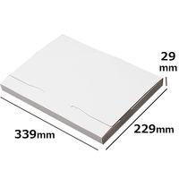 ダンボール ゆうパケット3cm 白 NO485 339*229*29 100枚 引っ越し フリマアプリ 梱包(直送品)