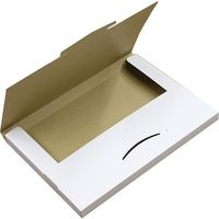 ダンボール ゆうパケット3cm 白 NO485 339*229*29 50枚 引っ越し フリマアプリ 梱包(直送品)